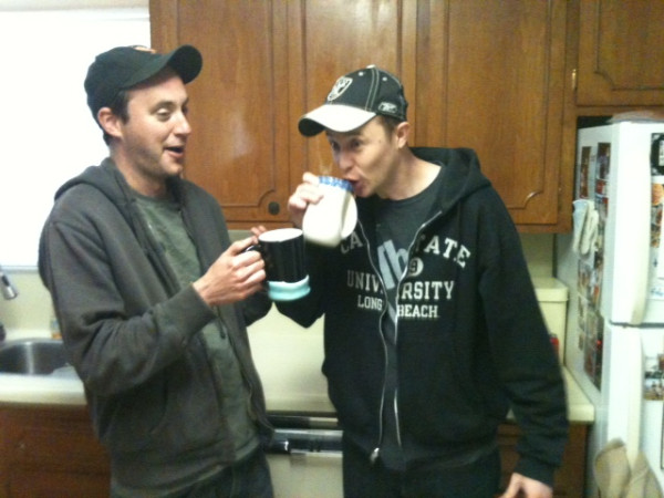 Buck and Tod have some pre-show coffee