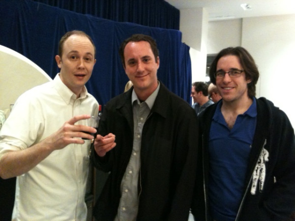 Tod, Buck and Elliott at an art show