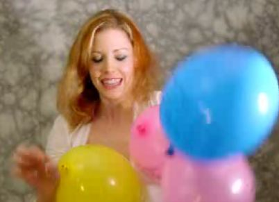 Balloon fetish clip